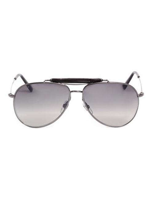 Bamboo aviator-style sunglasses by GUCCI in Transcendence