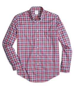 Non-Iron Regent Fit Tonal Plaid Sport Shirt by Brooks Brothers in A Walk in the Woods