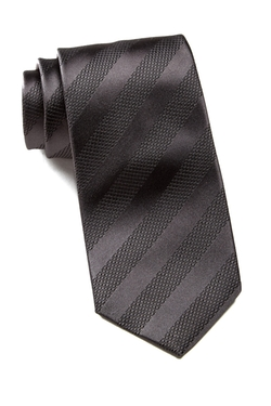 Tonal Striped Silk Tie by Hugo Boss in The Proposal