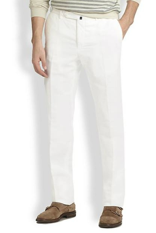 Modern-Fit Chinolino Pants by Incotex in Absolutely Anything