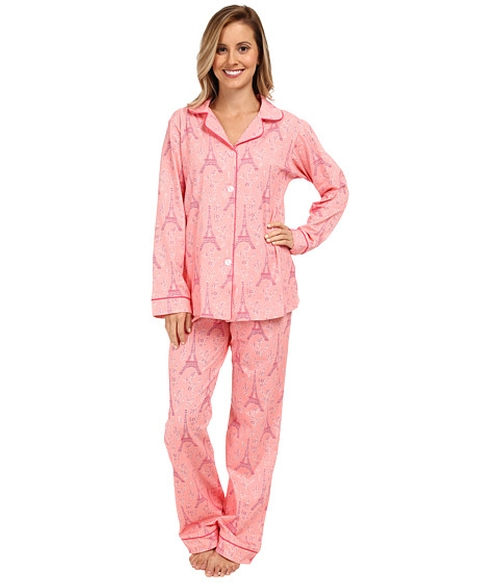 Pink Eiffel Stretch Classic PJ by Bedhead in Burn After Reading