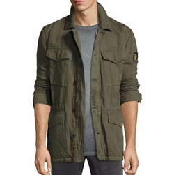 Weymouth Linen-Cotton Utility Jacket by Belstaff in The Mummy