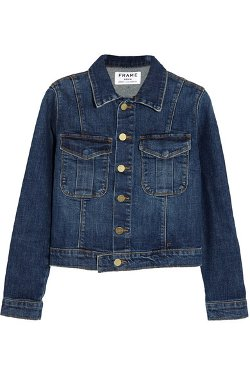 Le Military Stretch-Denim Jacket by Frame Denim in Pitch Perfect 2