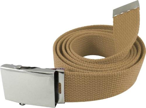 Military Style Canvas Web Belt w/ Silver Roller Buckle by JTC Belt in Unbroken