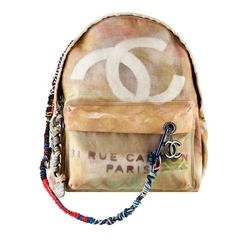 Large Graffiti Printed Backpack by Chanel in Keeping Up With The Kardashians