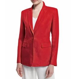 Mackenzie Lavish One-Button Linen Jacket by Lafayette 148 New York in Spider-Man: Homecoming