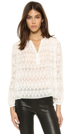 Ice Cap Top by Rebecca Taylor in Black-ish
