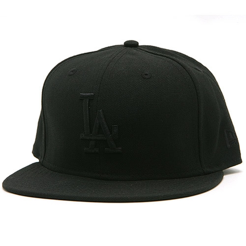 Los Angeles Dodgers Basic Black Fitted Cap by New Era 59Fifty in Straight Outta Compton
