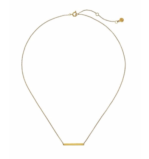Simple Bar Necklace by Gorjana in The Boss