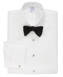 Slim Fit Ten-Pleat Tennis Collar Formal Tuxedo Shirt by Catherine Martin (Costume Designer) and Brooks Brothers (Tailor) in The Great Gatsby