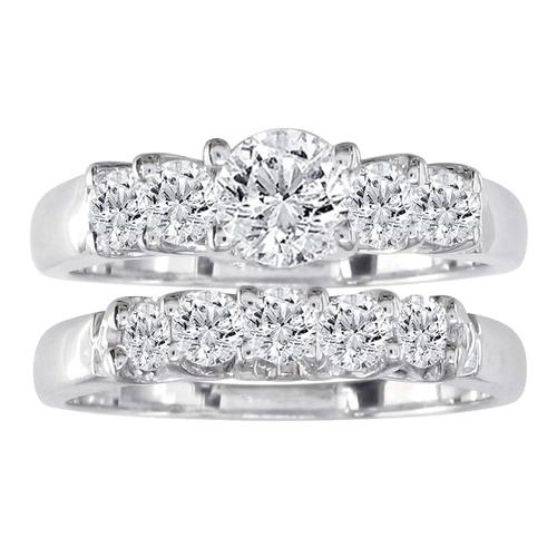 Diamond Bridal Engagement Ring Set by SuperJeweler in Boyhood