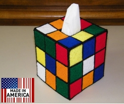 Rubik's Cube Tissue Box Cover by Usongs Trading Inc in The Big Bang Theory