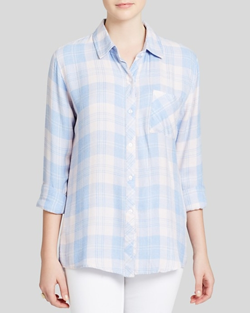 Bloomingdale's Exclusive Plaid Button Down Shirt by Rails  in The Big Bang Theory - Season 9 Episode 11
