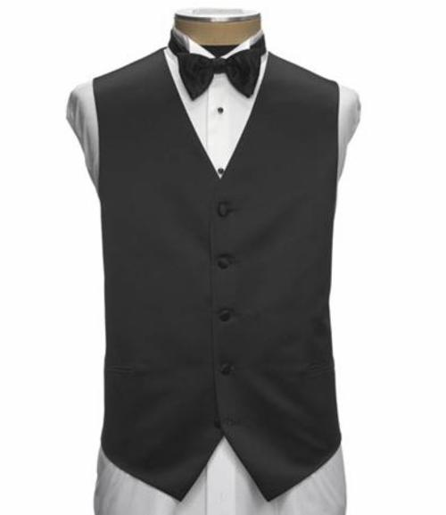 Black Silk Vest by JoS. A. Bank in Mortdecai