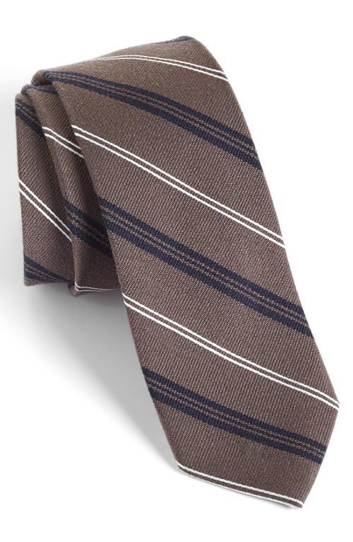 Browne Woven Wool & Silk Tie by 1901 in Hall Pass