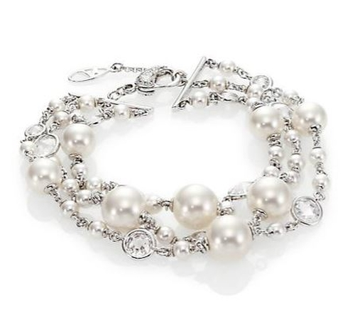 Caged Three-Strand Faux Pearl Bracelet by Adriana Orsini in The Last Witch Hunter