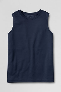 Men's Sleeveless Performance T-Shirt by Lands' End in Masterminds