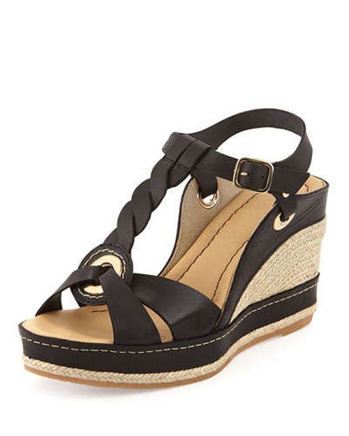 Phillie T-Strap Espadrille Wedge Sandals by Andre Assous in The Disappearance of Eleanor Rigby