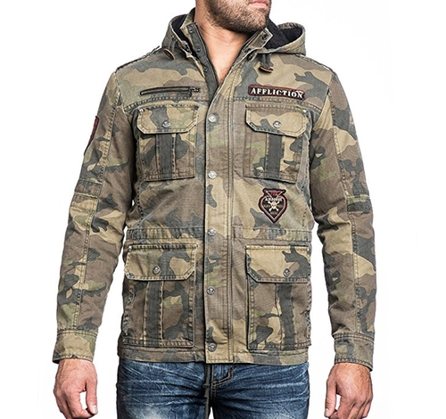 Rusty Break Utility Jacket by Affliction in The Fate of the Furious