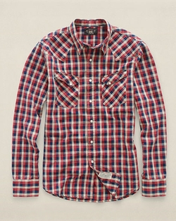 Plaid Cotton Western Shirt by Ralph Lauren in The Mindy Project
