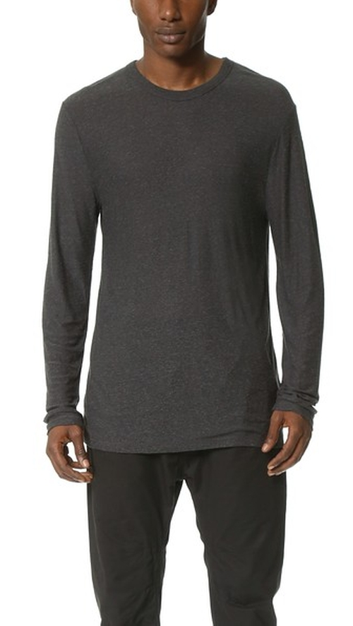 Slub Long Sleeve T-Shirt by T by Alexander Wang in Wanted