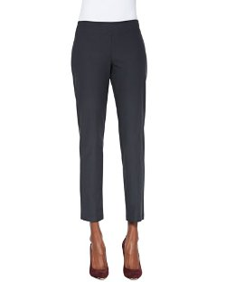 Washable Crepe Slim Ankle Pants by Eileen Fisher in Begin Again