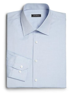 Regular-Fit Solid Dress Shirt by Saks Fifth Avenue Collection in The Blacklist