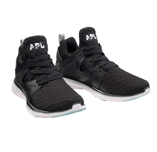 Ascend Black/Metallic Silver Sneakers by Athletic Propulsion Labs in Keeping Up With The Kardashians - Season 12 Episode 9