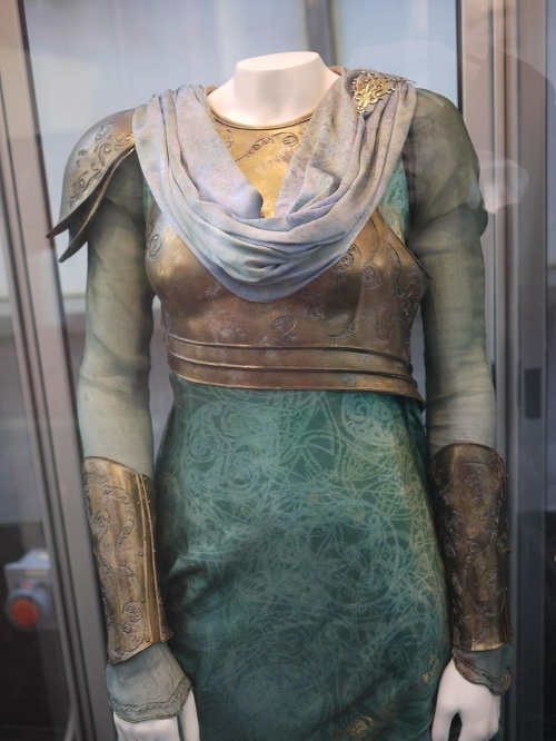 Custom Made Armored Long Sleeved Tiered Gown (Frigga) by Wendy Partridge (Costume Designer) in Thor: The Dark World