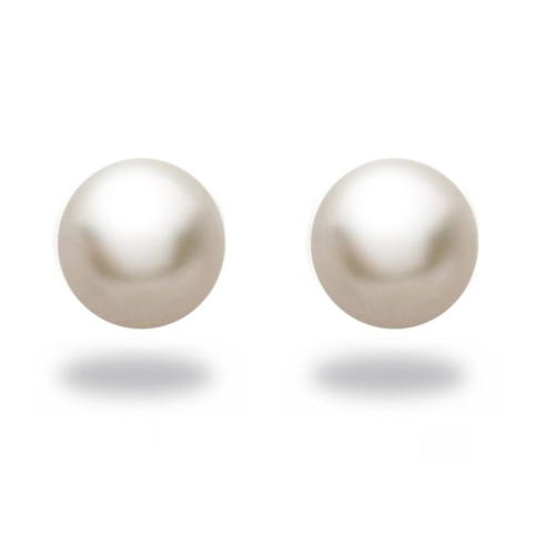 Natural Color Akoya White Pearl Stud Earrings by Tara Pearls in A Walk in the Woods