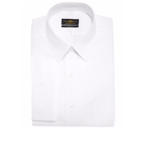 Estate Classic-Fit White Solid French Cuff Dress Shirt by Club Room in Jack Reacher