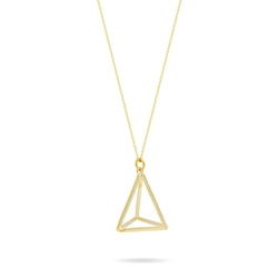 Gold Triangle Necklace by Tzaro-Jewelry in Jem and the Holograms