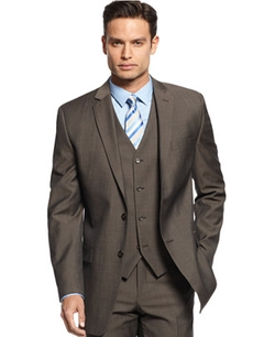 Twill Slim-Fit Suit Jacket by Alfani RED in Quantico