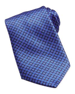 Floral-Pattern Woven Silk Tie by Stefano Ricci in The Other Woman