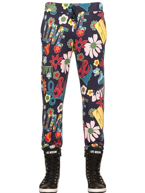 Hippie Printed Cotton Jogging Pants by Love Moschino in The Big Lebowski