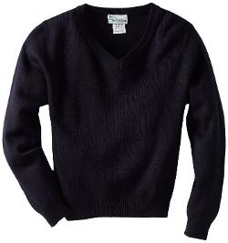 Boys Uniform 8-20 Unisex Long Sleeve V-Neck Sweater by Classroom Uniforms in St. Vincent