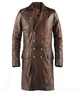 The Butcher Gothic Leather Coat - Brown by Soul Revolver in Vampire Academy