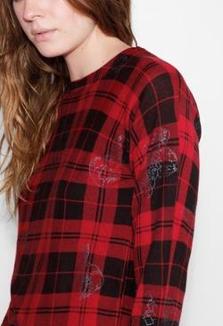 Crisp Print Deluxe CP Sweater by Zadig & Voltaire in Scream Queens