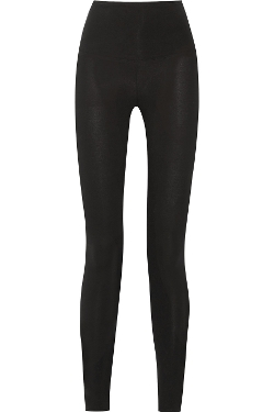 Milan Stretch Cotton-Jersey Leggings by Yummie By Heather Thomson in Barely Lethal