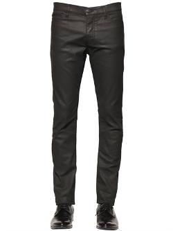 Leather Effect Stretch Denim Jeans by The Kooples in Ricki and the Flash