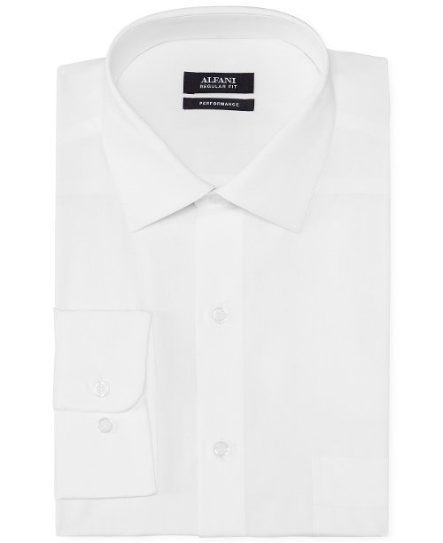 Solid Performance Dress Shirt by Alfani in Unfinished Business