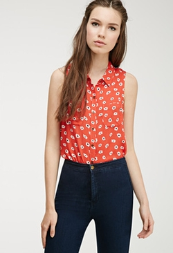 Daisy Print Blouse by Forever 21  in How To Be Single