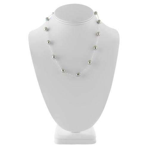 Cultured Freshwater Silver Pearl Necklace by Trendy Design in Jupiter Ascending