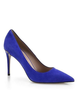 Adina Suede Horsebit Pumps by Gucci in The Mindy Project