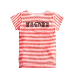 Girls' Oui-Non Sequin T-Shirt by J.Crew in Black-ish