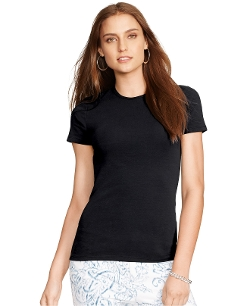 Crew-Neck T-Shirt by Lauren Ralph Lauren in Barely Lethal