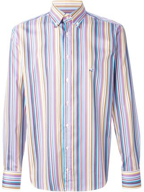 Striped Button Down Shirt by Etro in Nashville - Season 4 Episode 3