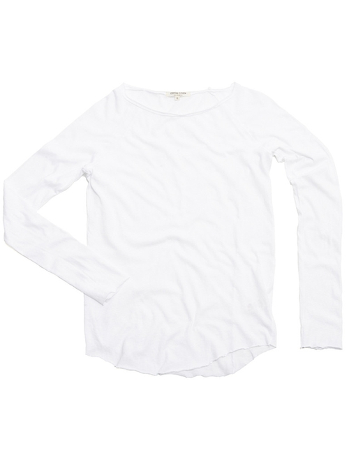 Raw Edge Raglan Top by Cotton Citizen in Keeping Up With The Kardashians - Season 11 Episode 3