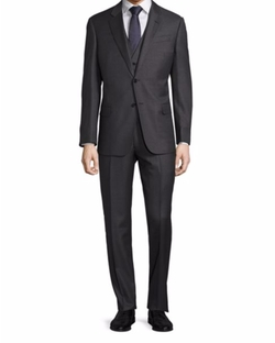 Windowpane 3 Piece Suit by Armani Collezioni in Billions