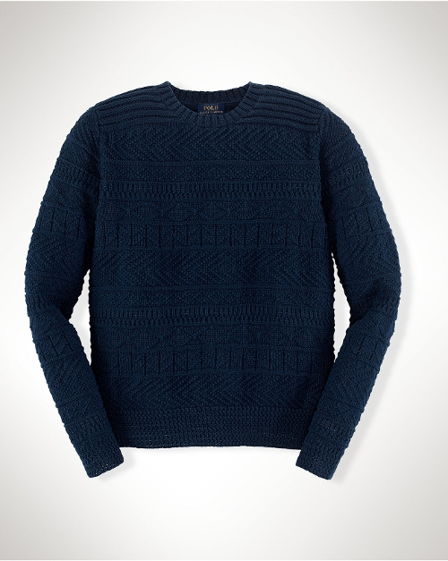 Guernsey Cotton-Linen Sweater by Ralph Lauren in The Visit